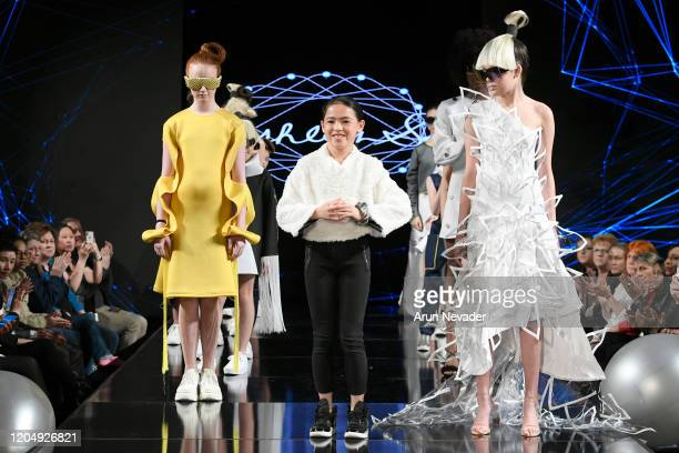 Designer Ashlyn So walks the runway during Ashlyn So At New York Fashion Week Powered By Art Hearts Fashion NYFW 2020 at The Angel Orensanz...