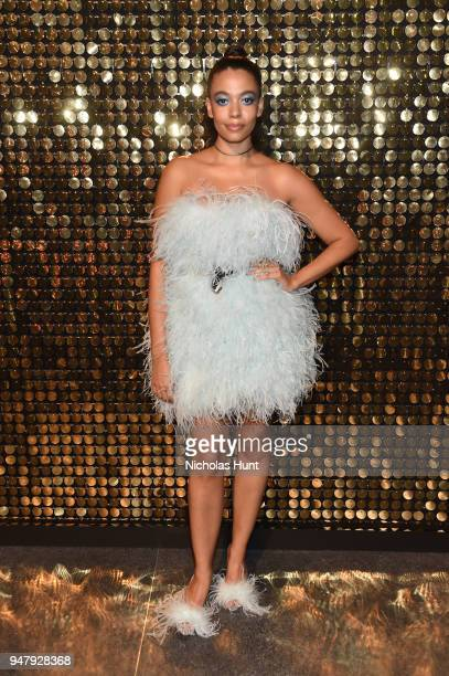 Designer Aurora James attends the Eighth Annual Brooklyn Artists Ball at The Brooklyn Museum on April 17 2018 in New York City