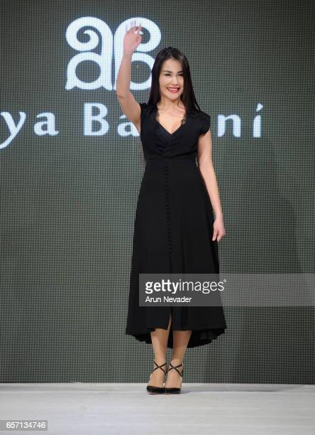 Designer Aya Bapani on the runway at Vancouver Fashion Week Fall/Winter 2017 at Chinese Cultural Centre of Greater Vancouver on March 23, 2017 in...