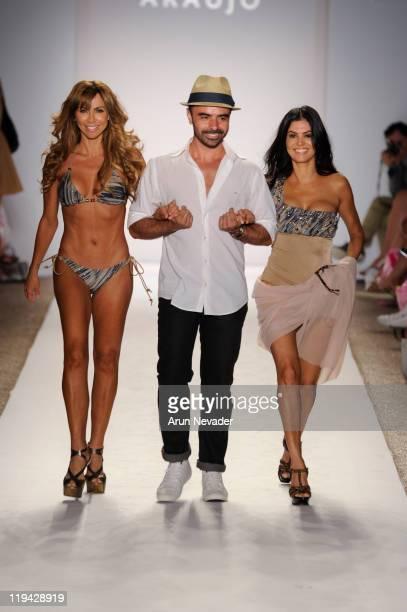 Designer AZ Araujo walks the runway with models for A Z Araujo during MercedesBenz Fashion Week Swim at The Raleigh on July 18 2011 in Miami Beach...