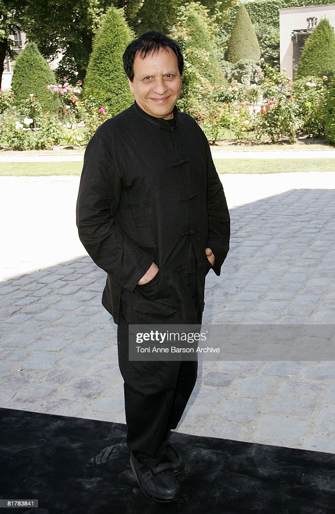 Designer Azzedine Alaia attends Dior '09 Spring Summer Haute Couture fashion show at the Rodin Museum on June 30, 2008 in Paris, France.