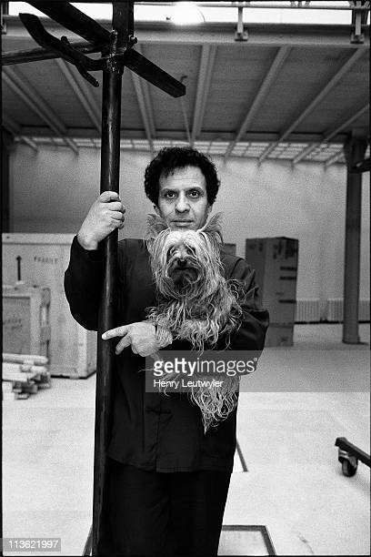 Designer Azzedine Alaia is photographed for Glamour France on September 9 1990 in Paris France