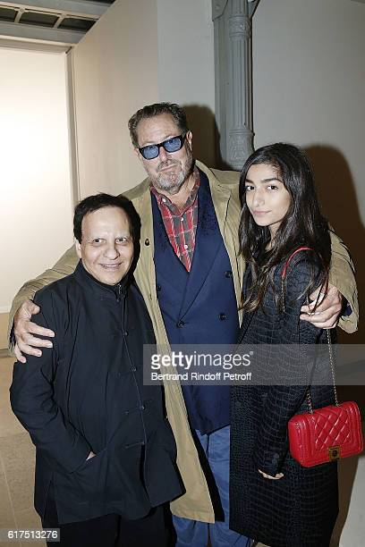 Designer Azzedine Alaia Painter and Director Julian Schnabel and Kiara Carriere attend the Azzedine Alaia Fashion Show at Azzedine Alaia Gallery on...