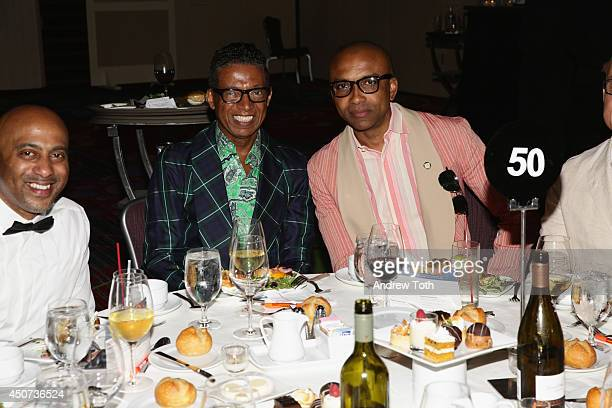 Designer B Michael and Mark Anthony Edwards attend the Trevor Project's 2014 'TrevorLIVE NY' Event at the Marriott Marquis Hotel on June 16 2014 in...