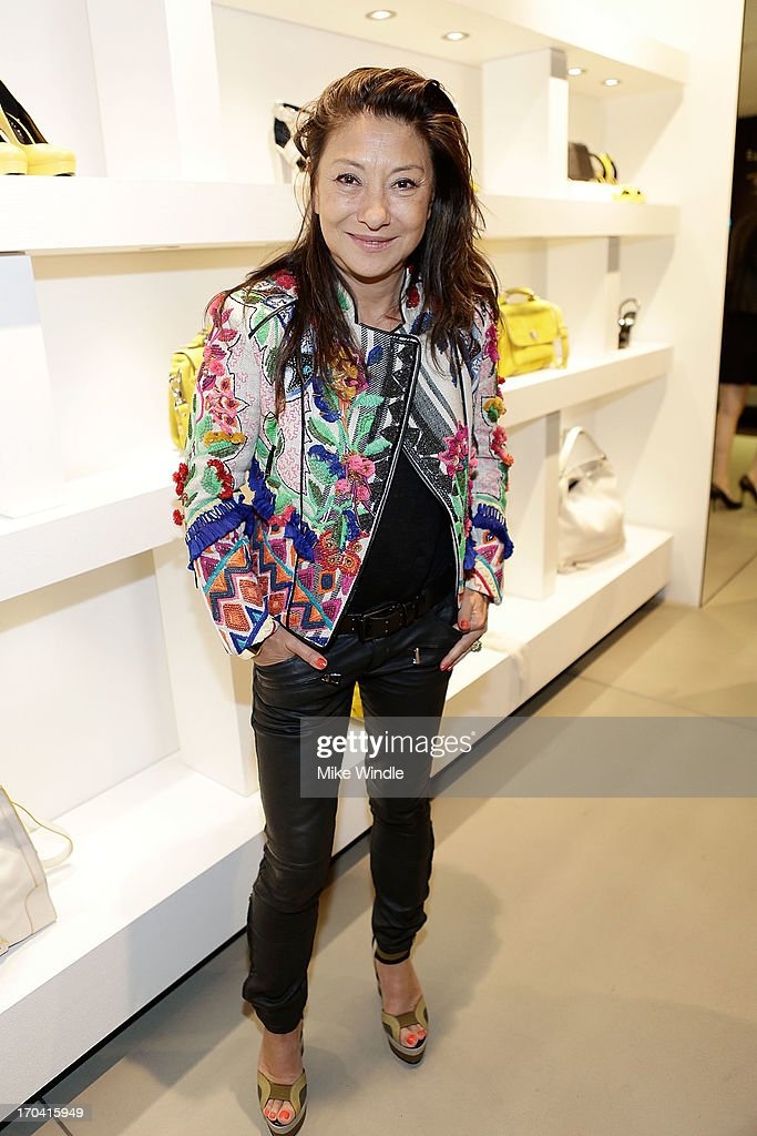 Designer Barbara Bui celebrates her first West Coast visit at her Rodeo Drive boutique on June 12, 2013 in Beverly Hills, California.