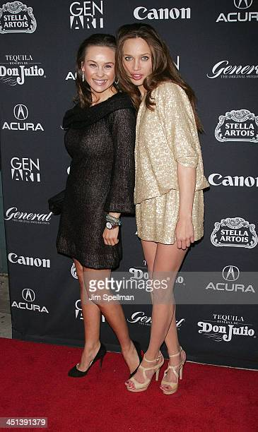 Designer Beata Bohman and model Natalie Gall attend the 15th annual Gen Art Film Festival screening of Mercy at the School of Visual Arts Theater on...