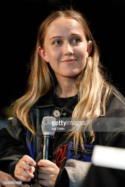 Designer Bethany Williams talks on stage at the 'State of Fashion' panel talk during the Bread&&Butter by Zalando at Arena Berlin on August 31, 2018...