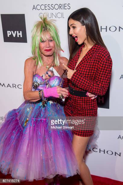 Designer Betsey Johnson and actress Victoria Justice attend the 21st Annual Ace Awards at Cipriani 42nd Street on August 7, 2017 in New York City.