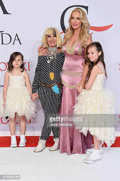 Designer Betsey Johnson and Lulu Johnson attend the 2015 CFDA Fashion Awards at Alice Tully Hall at Lincoln Center on June 1 2015 in New York City