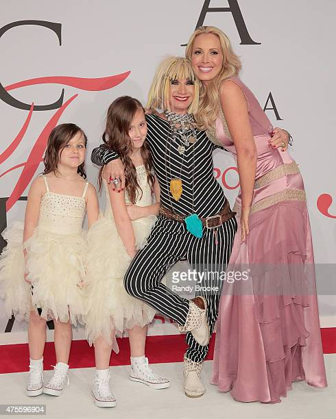 Designer Betsey Johnson and Lulu Johnson with daughters attend the 2015 CFDA Fashion Awards at Alice Tully Hall at Lincoln Center on June 1 2015 in...