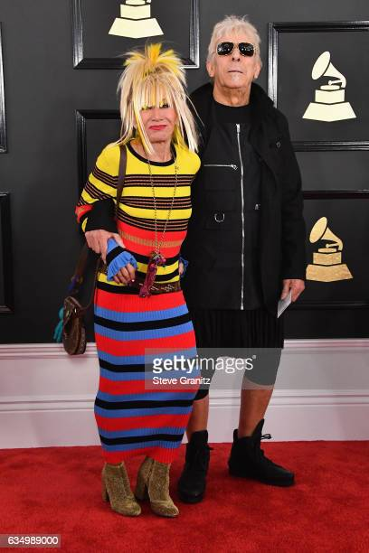 Designer Betsey Johnson and musician John Cale attend The 59th GRAMMY Awards at STAPLES Center on February 12 2017 in Los Angeles California