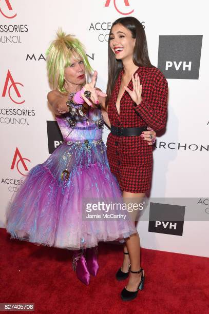 Designer Betsey Johnson and Victoria Justice attend the Accessories Council's 21st Annual celebration of the ACE awards at Cipriani 42nd Street on...