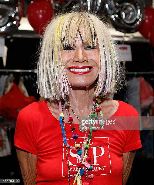 Designer Betsey Johnson attends Betsey Johnson Spring 2016 New York Fashion Week at The Arc Skylight at Moynihan Station on September 11 2015 in New...
