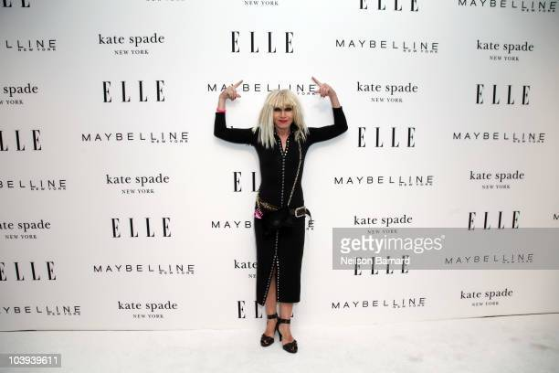 Designer Betsey Johnson attends FASHION NEXT the ELLE RISD Design Award runway presentation during MercedesBenz Fashion Week Spring 2011 in the David...