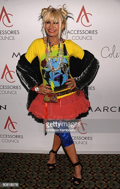 Designer Betsey Johnson attends the 13th Annual 2009 ACE Awards presented by the Accessories Council at Cipriani 42nd Street on November 2 2009 in...