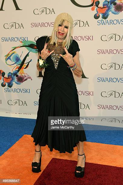 Designer Betsey Johnson attends the 2014 CFDA fashion awards at Alice Tully Hall Lincoln Center on June 2 2014 in New York City