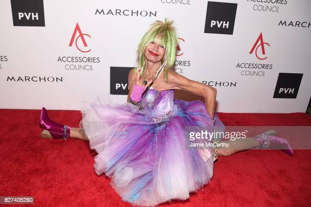 Designer Betsey Johnson attends the Accessories Council's 21st Annual celebration of the ACE awards at Cipriani 42nd Street on August 7 2017 in New...