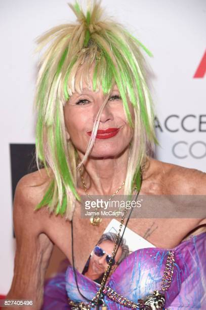 Designer Betsey Johnson attends the Accessories Council's 21st Annual celebration of the ACE awards at Cipriani 42nd Street on August 7, 2017 in New...