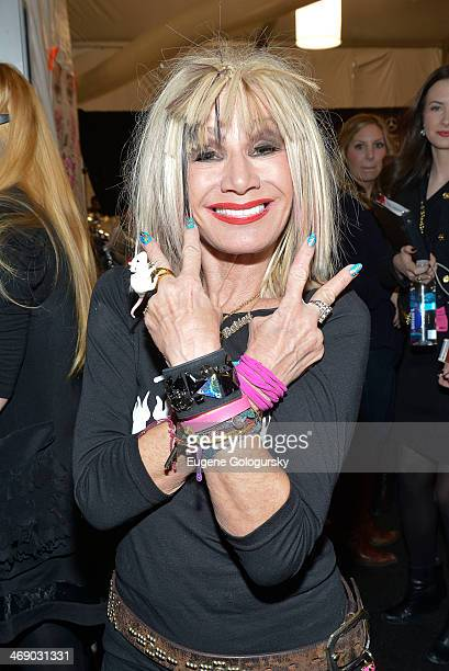 Designer Betsey Johnson attends the Betsey Johnson Show during MercedesBenz Fashion Week Fall 2014 at The Salon at Lincoln Center on February 12 2014...