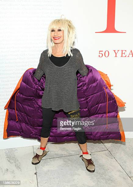 Designer Betsey Johnson attends the exhibition opening night gala for Impact 50 Years of the CFDA at The Fashion Institute of Technology on February...