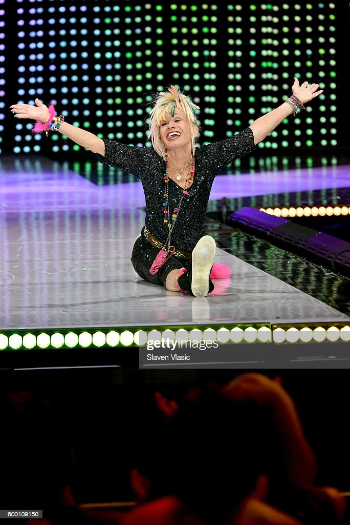 Designer Betsey Johnson walks the runway as Macy's Presents Fashion's Front Row kicks-off New York Fashion Week at The Theater at Madison Square Garden on September 7, 2016 in New York City.