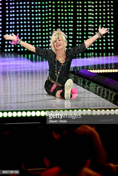 Designer Betsey Johnson walks the runway as Macy's Presents Fashion's Front Row kicksoff New York Fashion Week at The Theater at Madison Square...