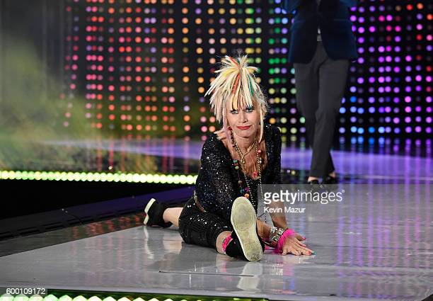 Designer Betsey Johnson walks the runway as Macy's Presents Fashion's Front Row kicks-off New York Fashion Week at The Theater at Madison Square...