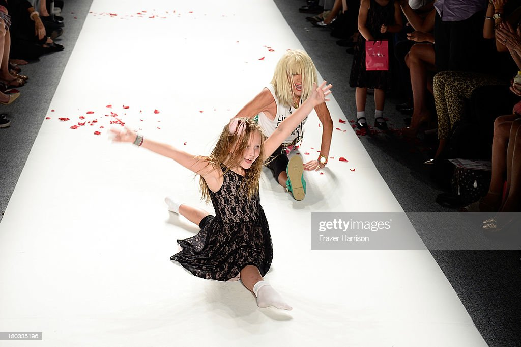 Designer Betsey Johnson walks the runway at the Betsey Johnson fashion show during Mercedes-Benz Fashion Week Spring 2014 at The Studio at Lincoln Center on September 11, 2013 in New York City.