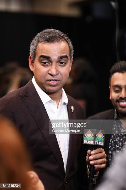 Designer Bibhu Mohapatra after the fashion show with Narayan Jewellers in association with ForeverMark Diamonds at Skylight Clarkson Sq on September...