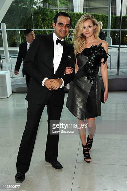 Designer Bibhu Mohapatra and model Edita Vilkeviciute attend the 2011 CFDA Fashion Awards at Alice Tully Hall Lincoln Center on June 6 2011 in New...
