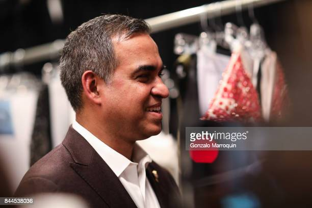 Designer Bibhu Mohapatra during his fashion show with Narayan Jewellers in association and ForeverMark Diamonds at Skylight Clarkson Sq on September...