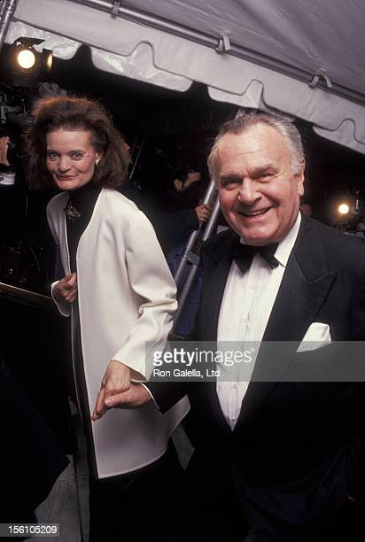 Designer Bill Blass and Chessy Raynor attending 100th Anniversary Celebration for 'Vogue Magazine' on April 2 1992 at the New York Public Library in...