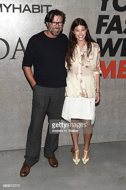 Designer Billy Reid and Kelly Reid attend the opening event for New York Fashion Week Men's S/S 2016 at Amazon Imaging Studio on July 13 2015 in...