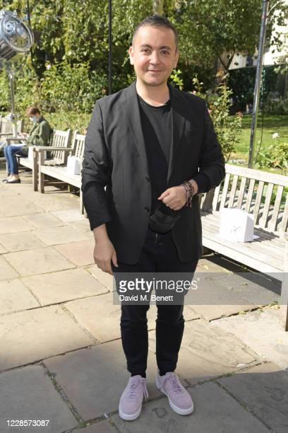 Designer Bora Aksu attends the Bora Aksu catwalk show during London Fashion Week September 2020 at St Paul's Church on September 18, 2020 in London,...