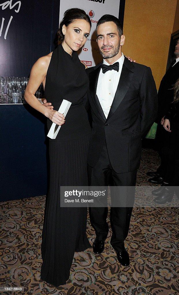 Designer Brand award winner Victoria Beckham and designer Marc ... 723e5c03e5a6