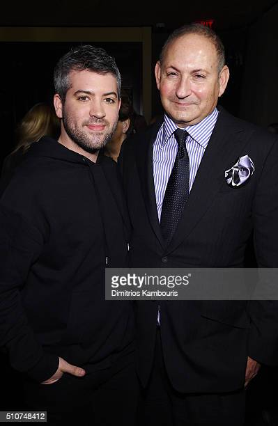 Designer Brandon Maxwell and Group President The Estée Lauder Companies Inc John Demsey attend the after party for the Brandon Maxwell A/W 2016...