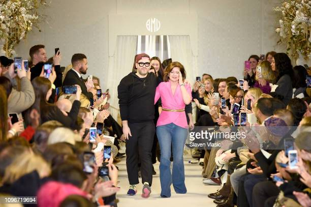 Designer Brandon Maxwell and his Mom Pam Woolley walk the runway for the Brandon Maxwell fashion show during New York Fashion Week The Shows at Penn...