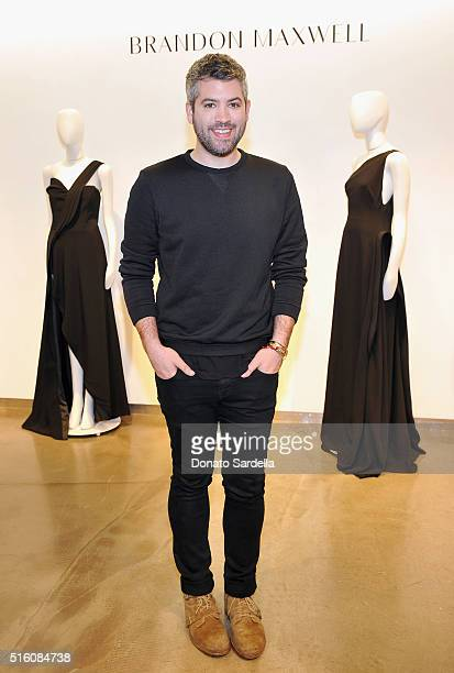 Designer Brandon Maxwell attends Saks Fifth Avenue launch of Brandon Maxwell Spring 2016 Collection at Saks Fifth Avenue Beverly Hills on March 16...
