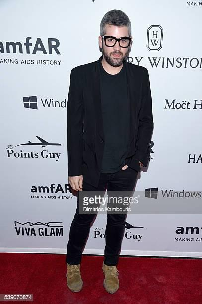 Designer Brandon Maxwell attends the 7th Annual amfAR Inspiration Gala New York at Skylight at Moynihan Station on June 9 2016 in New York City