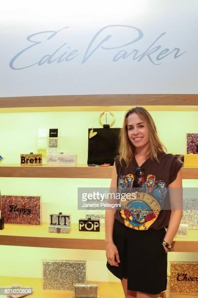 Designer Brett Heyman attends an Edie Parker PopUp at Intermix hosted by EditorinChief Samantha Yanks and Designer Brett Heyman on July 22 2017 in...