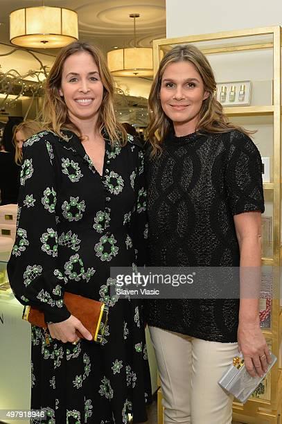 Designer Brett Heyman of Edie Parker and Aerin Lauder attend AERIN Beauty x Edie Parker Collaboration Launch at Bergdorf Goodman on November 19 2015...