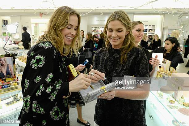 Designer Brett Heyman of Edie Parker and Aerin Lauder attend AERIN Beauty x Edie Parker Collaboration Launch at Bergdorf Goodman on November 19 2015...