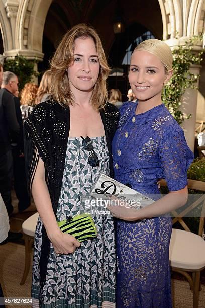 Designer Brett Heyman of Edie Parker CFDA/Vogue Fashion Fund finalist and actress Dianna Agron attend the 2014 CFDA/Vogue Fashion Fund Event...