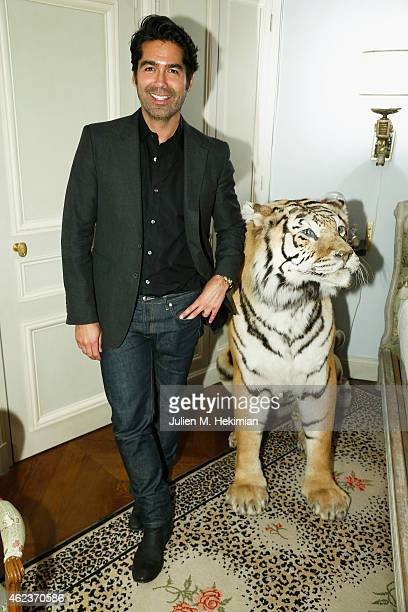 Designer Brian Atwood attends mytheresacom x JJ Martin Cocktail Party on January 27 2015 in Paris France