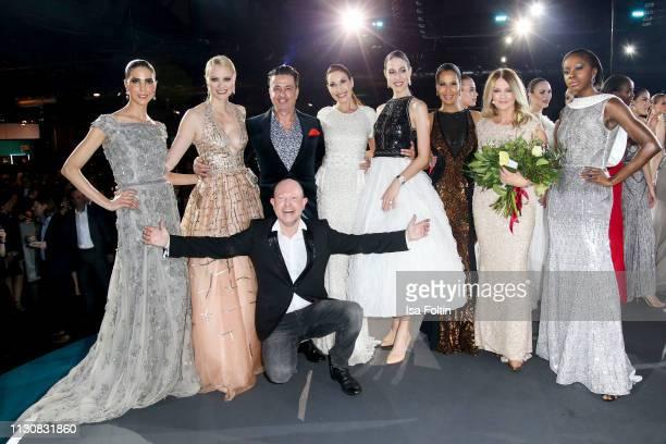 Designer Brian Rennie with his husband Ferdinand Rennie model Franziska Knuppe Dagmar Koegel Alana Siegel model Marie Amiere German presenter Frauke...