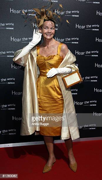 Designer Britt Kanja attends the opening of Bryan Adam's exhibition 'Hear the World' on May 29 2008 in Berlin Germany