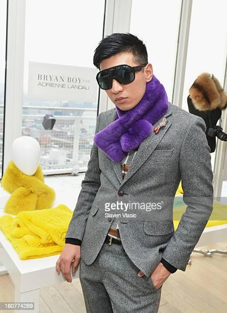 Designer Bryan Boy attends Bryan Boy For Adrienne Landau Presentation Fall 2013 MercedesBenz Fashion Week at Mondrian SoHo on February 5 2013 in New...