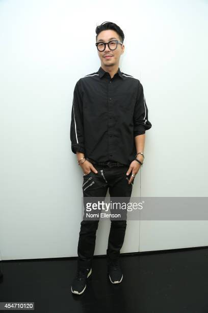 Designer Bumsuk Choi at the General Idea presentation during MercedesBenz Fashion Week Spring 2015 at Center 548 on September 5 2014 in New York City