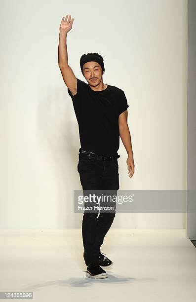 Designer Bumsuk Choi walks the runway at the General Idea Spring 2012 fashion show during MercedesBenz Fashion Week at The Studio at Lincoln Center...
