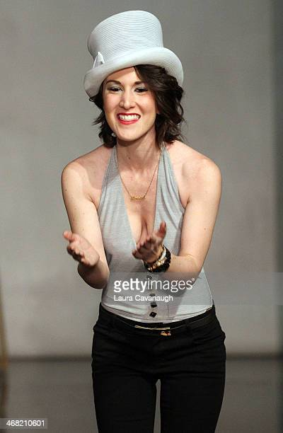 Designer Caitlin Kelly attends the Hairshion fashion show during MercedesBenz Fashion Week Fall 2014 at Alvin Alley Studios on February 9 2014 in New...